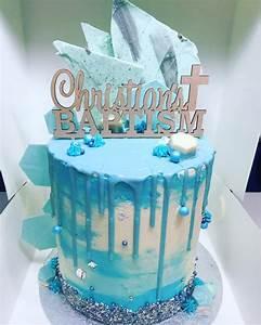 Christening Drip Cake - CakeCentral com