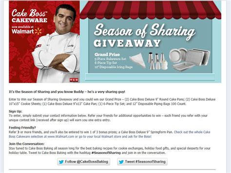 cake boss season  sharing giveaway