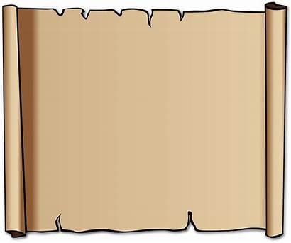Scroll Blank Paper Brown Vector Pixabay Graphic