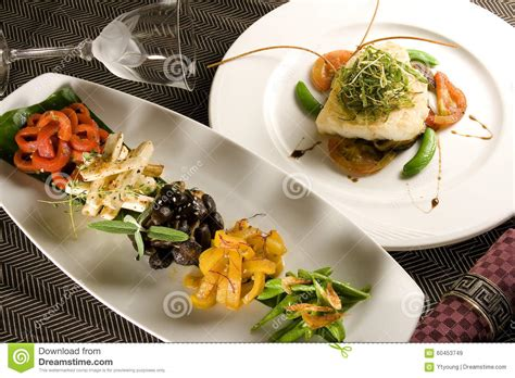 creative cuisine appetizer scallops seafood royalty free