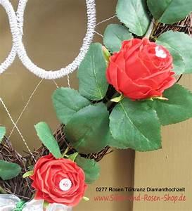 Begleitpflanzen Für Rosen : rosen t rkranz f r diamanthochzeit zum bestellen ~ Orissabook.com Haus und Dekorationen