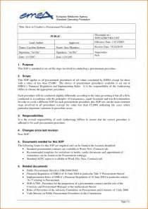 Simple Standard Operating Procedure Template