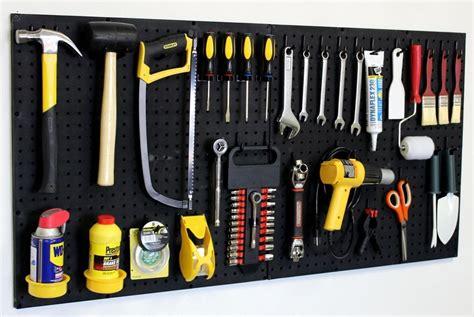 Wall Mount Pegboard Tool Organizer Kit Peg Board Hooks