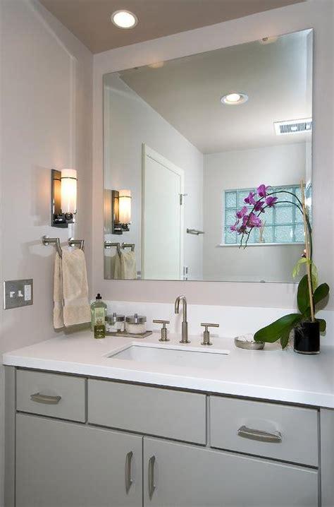 gray bathroom cabinet contemporary bathroom js