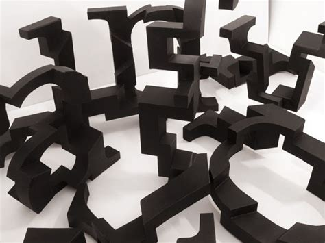 a three dimensional typeface by karina petersen via behance typography experiments