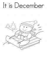 December Coloring Pages Getcolorings sketch template