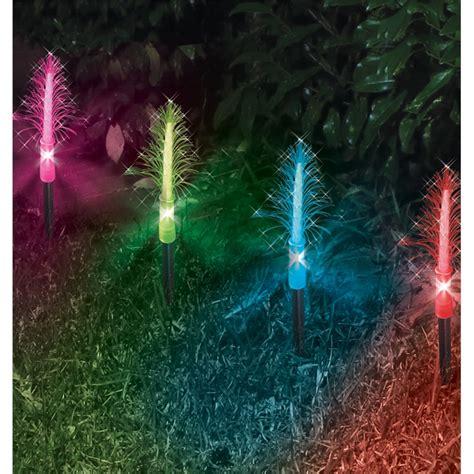 miniature led christmas tree w solar charger lytworx 8 led fibre optic colour changing mini tree solar garden stakes i n 4351261