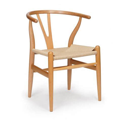 cool scandinavian oak wishbone dining chair set of two by