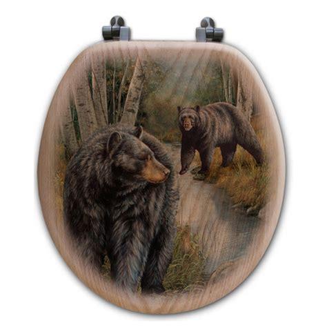 birchwood bears wood toilet seat