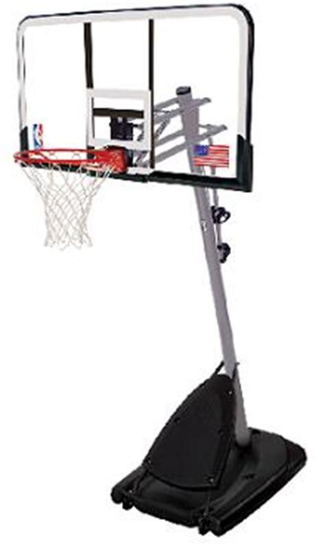 spalding   steel acrylic portable basketball