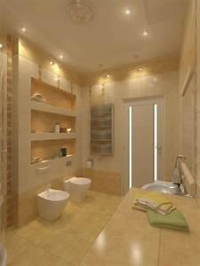 beaucoup d39idees en photos pour une salle de bain beige With carrelage adhesif salle de bain avec lumiere led interieur maison