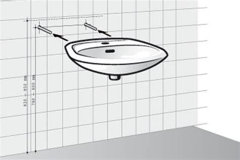 Waschbecken Montieren Höhe by Lavabo Selbst Installiert