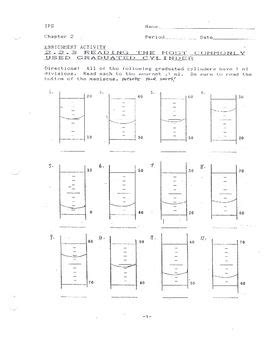 "Reading Graduated Cylinders Worksheet #1  Other, 150"" And Student"