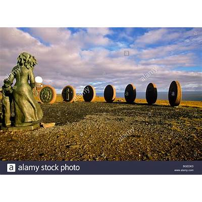 Children of the Earth monument at North Cape Hall