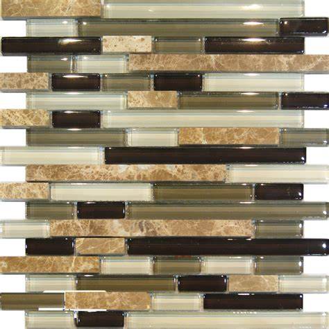 sle marble green brown glass linear mosaic tile