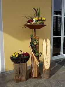 Deko Hauseingang Frühling : altholzbalken mit edelrost schale und bodenplatte eckig verschiedene gr en helga deko ~ Watch28wear.com Haus und Dekorationen