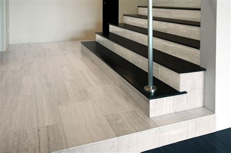 Houzz Living Room Rugs by Haisa Light Polished Marble Stair Risers Modern