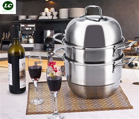 free shpping 4 layers stainless free shipping steamer pot utensil stainless steel food 3