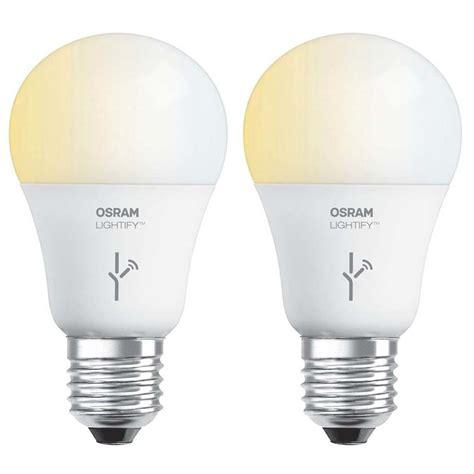 sylvania osram lightify 60 watt a19 tunable smart home led