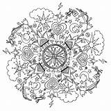 Coloring Square Mustard Colouring Grown Holy Ups Maria Mandala Pages sketch template