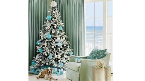 ways  decorate  blue  christmas coastal living