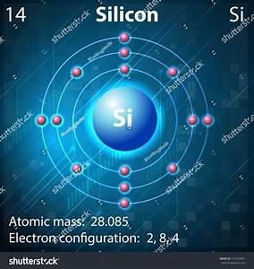 Illustration Element Silicon Stock Vector 152409881