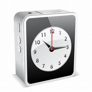 iPhone 4 White Clock Icon - iPhone 4 Mini Icons ...