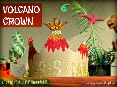 volcano crown template  tutorial digital file diy