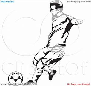 Soccer Kick Clip Art Black And White | Clipart Panda ...