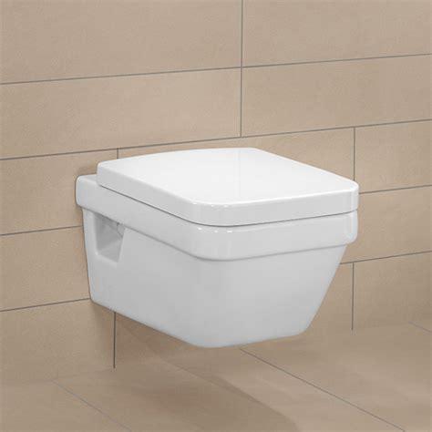 toilette villeroy et boch villeroy boch architectura wall mounted washdown toilet l 53 w 37 cm white 56851001