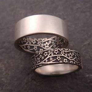 Stylehunter collective 20 wedding rings to say i do for Cherry blossom wedding ring