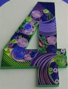Quilling Number Patterns