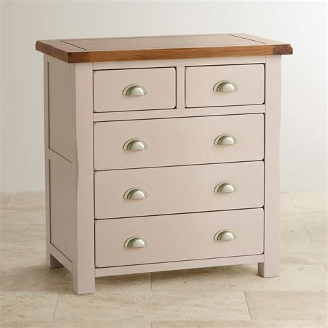 Chest Of Drawers by Chest Of Drawers In Painted Rustic Oak Oak