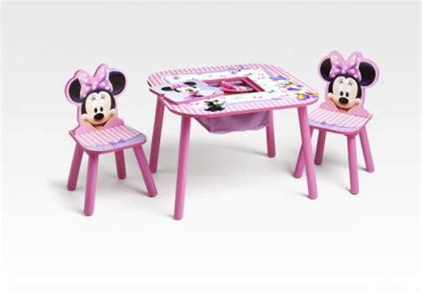 table et chaise minnie mouse notre mobilier à l effigie de personnages de dessins