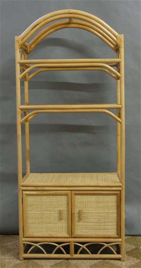 Rattan Etagere by Rattan And Wicker Etagere Entertainment Tv Center W Doors