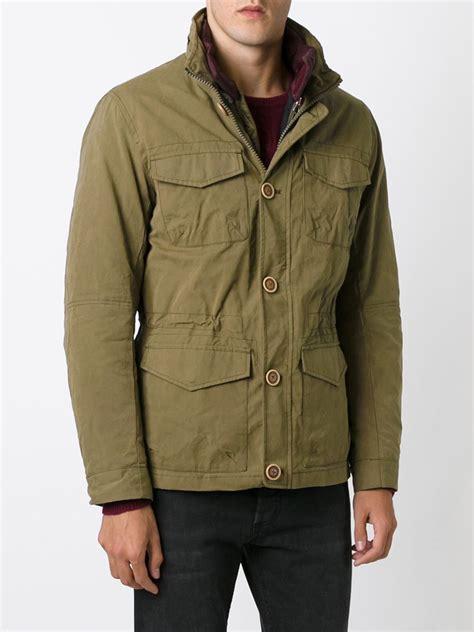 armani jeans cargo jacket  green  men lyst