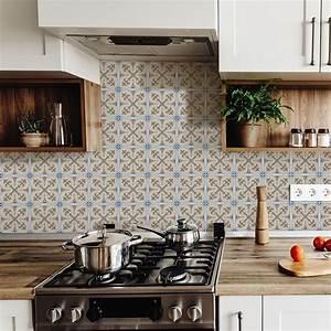 Stickers Carreaux De Ciment Cuisine : 9 stickers carreaux de ciment azulejos lio cuisine ~ Melissatoandfro.com Idées de Décoration