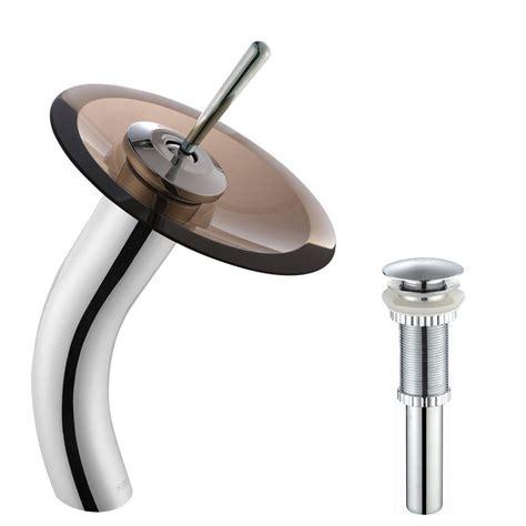 kraus single hole single handle  arc vessel glass