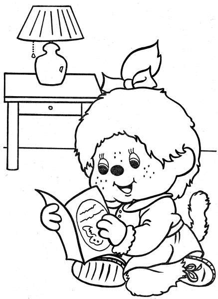 Monchichi Kleurplaat by Monchhichi Coloring Page Must Monchhichi