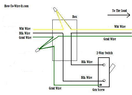Two Way Light Switch Diagram Typical Wiring For by Wiring A 2 Way Switch