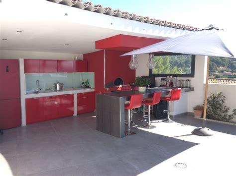 plan cuisine exterieure d ete création d un pool house avec un four à pizza à istres