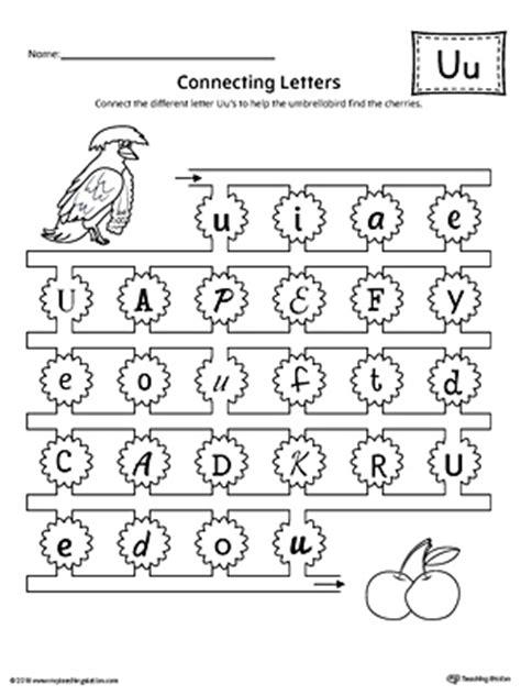 finding  connecting letters letter  worksheet