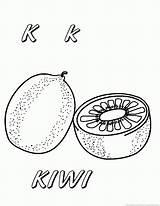 Kiwi Coloring Fruit Fruits 123coloringpages sketch template