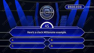 who wants to be a millionaire template google slides With who wants to be a millionaire blank template powerpoint