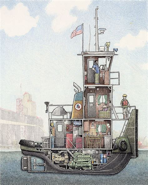 Ship Illustration by Peek Below Ship Decks In Illustrations Inspired By My Time