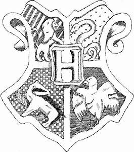 Free coloring pages of gryffindor house crest