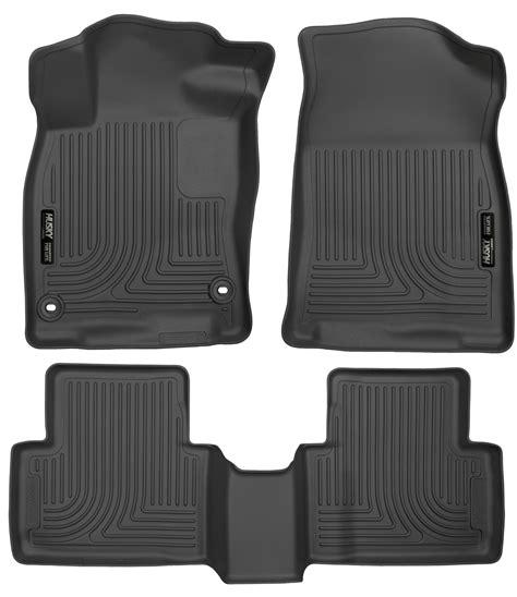 floor mats honda civic husky weatherbeater all weather floor mats for 2016 honda civic sedan ebay