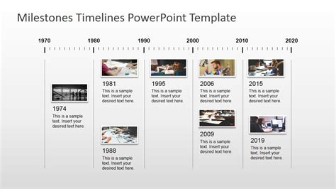 Powerpoint Timeline Milestone Template Image Collections
