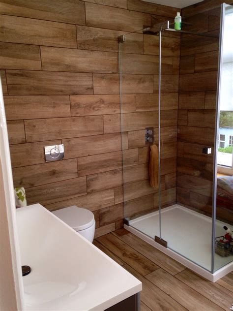 our bathroom at home wood effect porcelain tiles