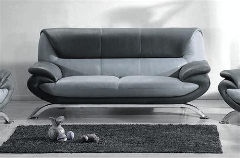 canap cuir gris clair canapé 3 places en cuir italien sicilia gris clair et